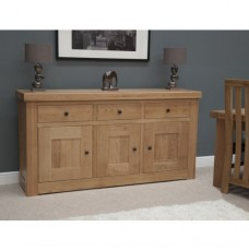 Bordeaux Oak 3 Door 3 Drawer Sideboard