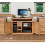 Mobel Oak Large 3 Drawer Bookcase