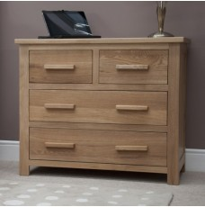 Opus Modern Oak 2 Over 2 Drawer Chest
