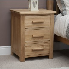 Opus Modern Oak 3 Drawer Bedside