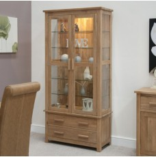 Opus Modern Oak Glass Display Cabinet