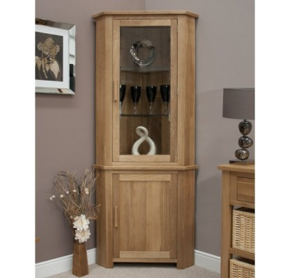 Opus Modern Oak Corner Display Unit
