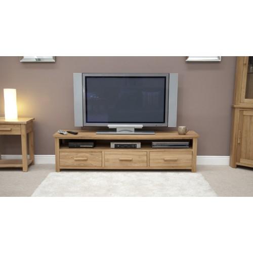 the best attitude d84f9 cb301 Opus Oak Wide Plasma TV Unit - Modern Oak TV Stand