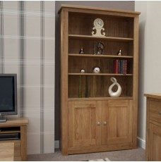 Torino Contemporary Oak 2 Door Bookcase