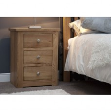 Torino Contemporary Oak 3 Drawer Narrow Bedside Cabinet