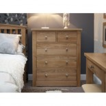 Torino Contemporary Oak 2 Over 3 Drawer Chest