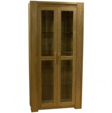 TRENDNEST Trend Lifestyle Oak Glass Display Cabinet