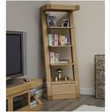 Z Oak Designer 1 Drawer Narrow Bookcase
