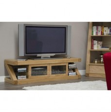 Z Oak Designer Glazed TV Unit