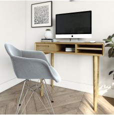 Scandic Oak Small Computer Desk