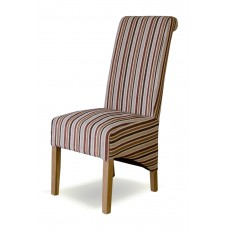 Richmond Stripe Royale Fabric Oak Chair