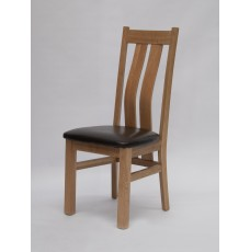 Maria Oak Leather Dining Chair