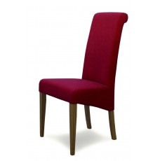 Italia Lipstick Fabric Oak Dining Chair