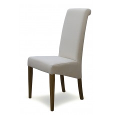 Italia Ivory Fabric Oak Dining Chair