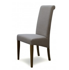 Italia Beige Fabric Oak Dining Chair