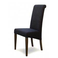Italia Stone Fabric Oak Dining Chair