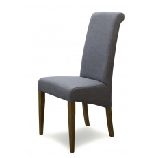 Italia Grey Fabric Oak Dining Chair