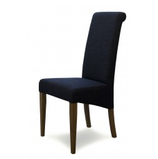 Italia Charcoal Fabric Oak Dining Chair