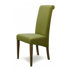 Italia Lime Fabric Oak Dining Chair