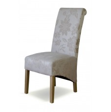 Richmond Floral Cream Fabric Oak Chair