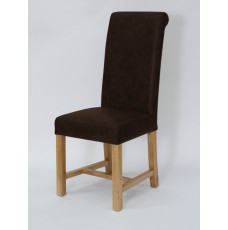 Henley Expresso Oak Leather Dining Chair
