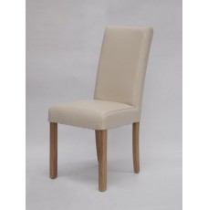 Marianna Ivory Leather Oak Dining Chair