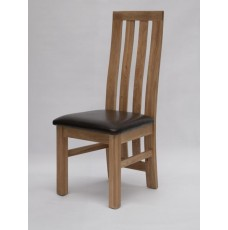 Paris Oak Leather Dining Chair