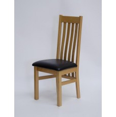 Perugia Oak Leather Dining Chair