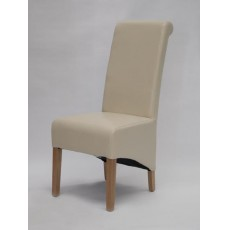 Richmond Ivory Leather Oak Dining Chair