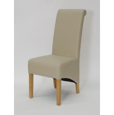 Richmond Bone Leather Oak Dining Chair