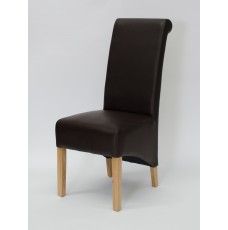 Richmond Coco Leather Oak Dining Chair