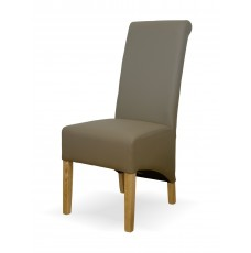 Richmond Mushroom Leather Oak Dining Chair