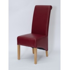 Richmond Ruby Oak Leather Dining Chairs