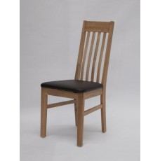Sophia Oak Leather Dining Chair