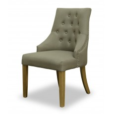 Windsor Comfort Fabric Oak Chair