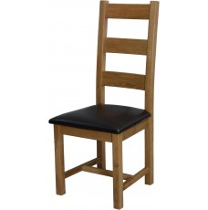 Deluxe Oak Ladder Back Chair
