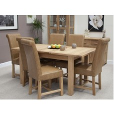 Opus Modern Oak Twin Leaf Extending Dining Table