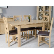 Opus Modern Oak Butterfly Extending Dining Table
