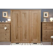 Torino Contemporary Oak Triple Wardrobe