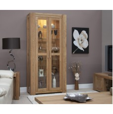 Trend Lifestyle Oak Glass Display Cabinet