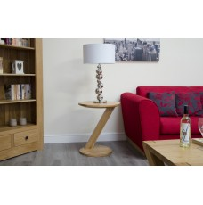 Z Oak Designer Modern Lamp Table