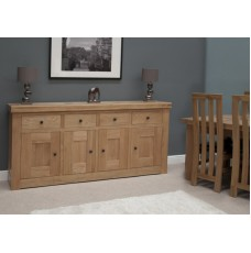 Bordeaux Oak 4 Door 4 Drawer Sideboard
