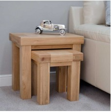 Bordeaux Oak Nest of Two Tables