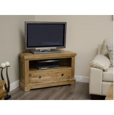Deluxe Oak Corner TV Unit