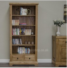 Deluxe Oak Large Bookcase
