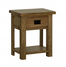 Devonshire Rustic Oak 1 Drawer Lamp Table