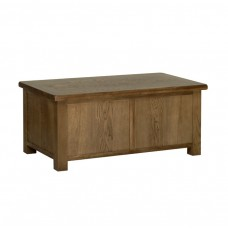 Devonshire Rustic Oak Blanket Box
