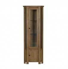 Devonshire Rustic Oak Corner Display Cabinet