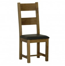 Devonshire Rustic Oak Ladder Back Chair