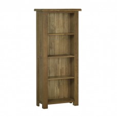 Devonshire Rustic Oak 5ft Narrow Bookcase